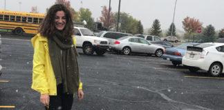 Tatiana at the Bus Stops